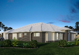 The Sicily is 2 unit, 3 bedroom duplex with a double garage